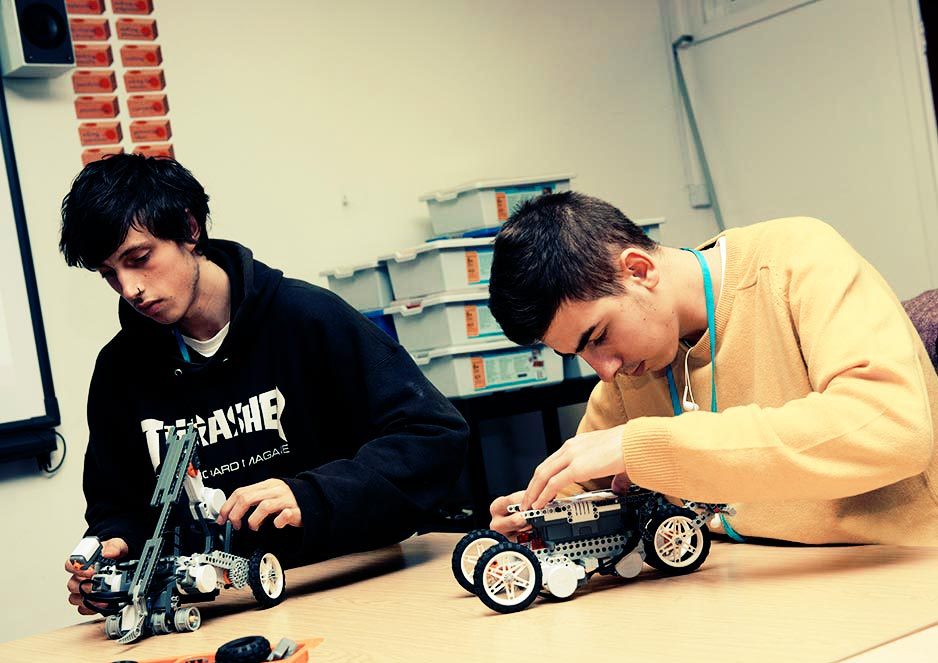 Students are given hands-on projects to challenge the mind and encourage creativity. (Pictured: Lego technix)