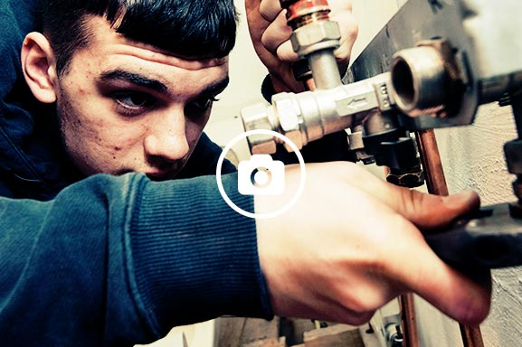 Potential plumbers carry out practical tasks including maintenance of plumbing systems to help them become work ready.