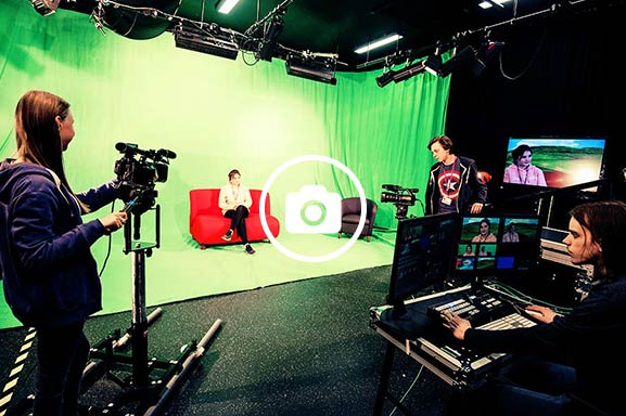 Create's TV studio gives students the space to create real-life sets to develop the skills needed in industry.