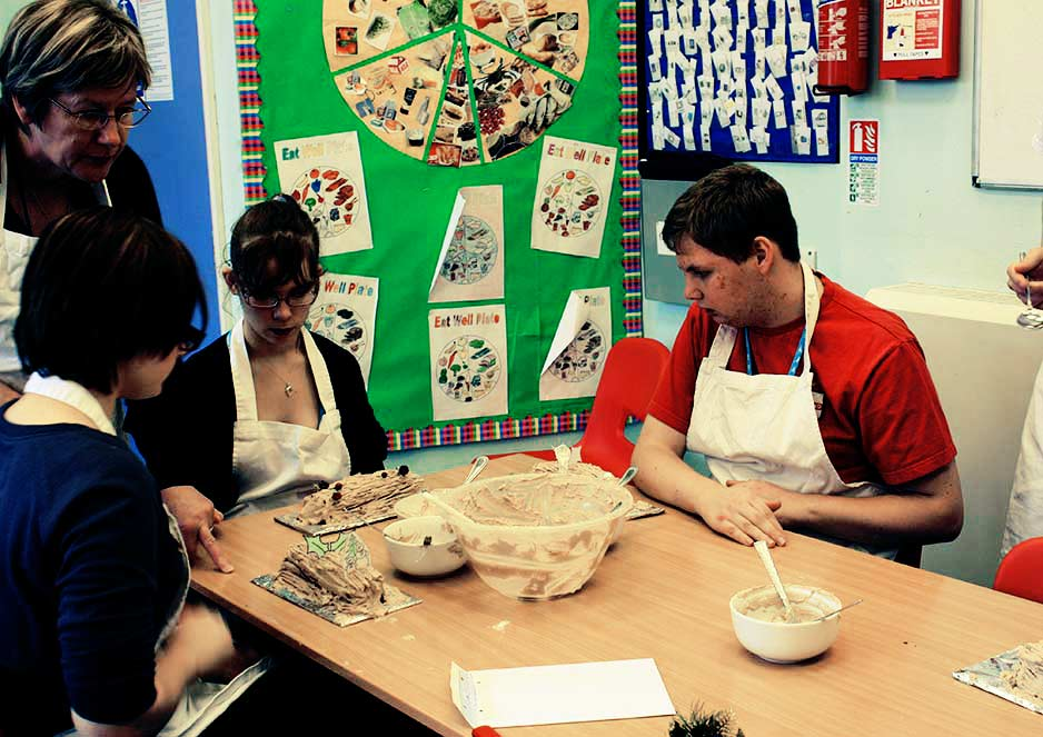 Practical cookery lessons go down a treat with the Foundation Studies students.